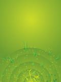 background green radiate poster