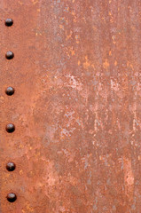 rusty riveted steel background