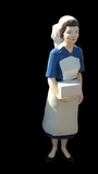 miniature model of nurse poster