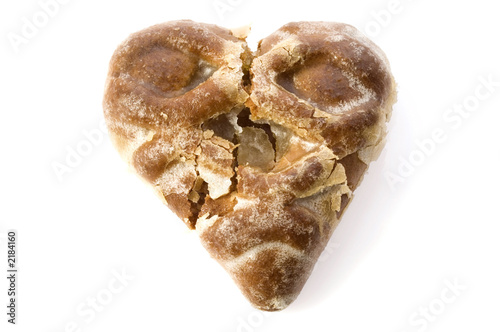 break heart - shaped cookie