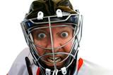 mad hockey goalie poster
