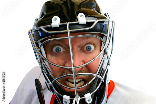 mad hockey goalie