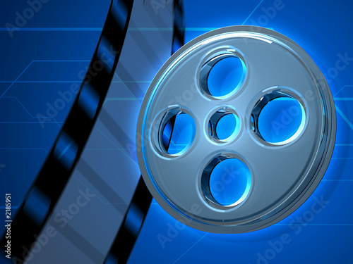 glass movie tape 3d background
