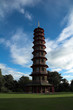 the pagoda in kew gardens, london, uk.