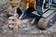 Leinwandbild Motiv drilling tractor