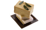 spa. natural soaps and olive leaves poster