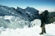 climber on the glacier