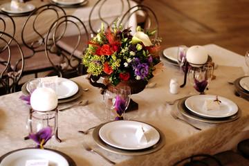 table decor at a wedding 2