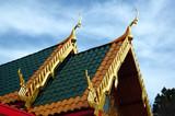 roof line of buddhist monastary poster