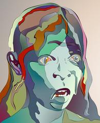old woman art