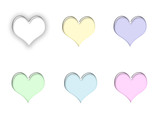 pastel hearts poster