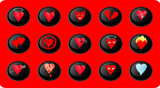 valentines heart buttons poster