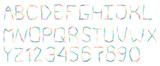 alphabet from paperclips poster