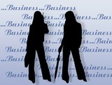 business womens and endorsement poster