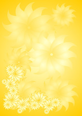 yellow floral background