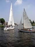 sailing boats at a nice summerday poster
