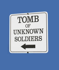 sign for tomb of unknown soldiers