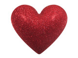 glittering valentine heart (+ clipping path) poster