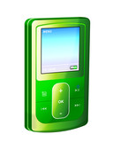 mp3 player msi iso green poster