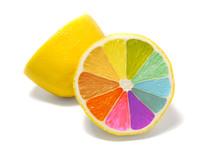 """Постер, картина, фотообои """"coloured lemon"""""""