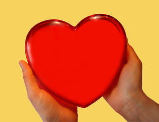 red symbolical heart .