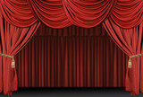 stage theatre drape background poster