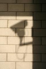 shadow of cctv camera