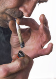 homme fumant un joint poster
