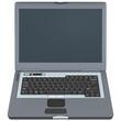 laptop computer front view