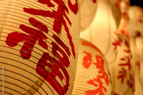 oriental lanterns at night