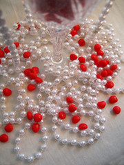 pearls and hearts