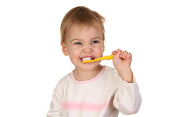 baby with tooth brush 2
