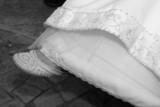 shoe white bride slipper elegant designer style poster