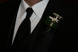 tux shirt tie boutonniere poster