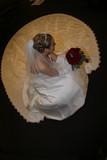 wedding bride aerial dress gown glove flower poster