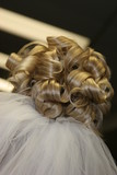 hair blond up do bun style hairstyle veil pro curl poster
