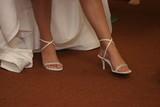 sexy elegant shoes high heel bride dress white poster