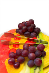 fruits on the plate vertical