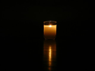 traditional memorial candle