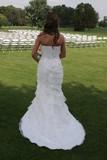 elegant white wedding dress gown back bride poster