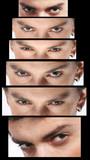 evil eyes look - various eye poses poster