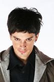 evil look - demon man eyes poster