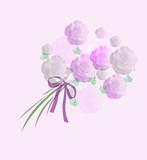 pastel  bouquet art poster