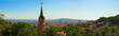 panorama from barcelona city from park guell by gaudi