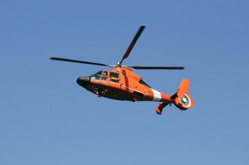coastguard helicopter in flight