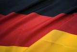 landscape view of german national flag poster