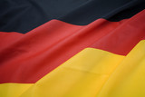 close up of german national flag poster
