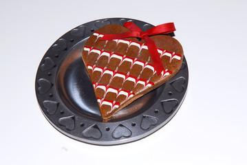 cookie on a heart plate