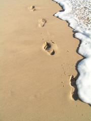 footprints in the water