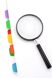 file divider and magnifier poster